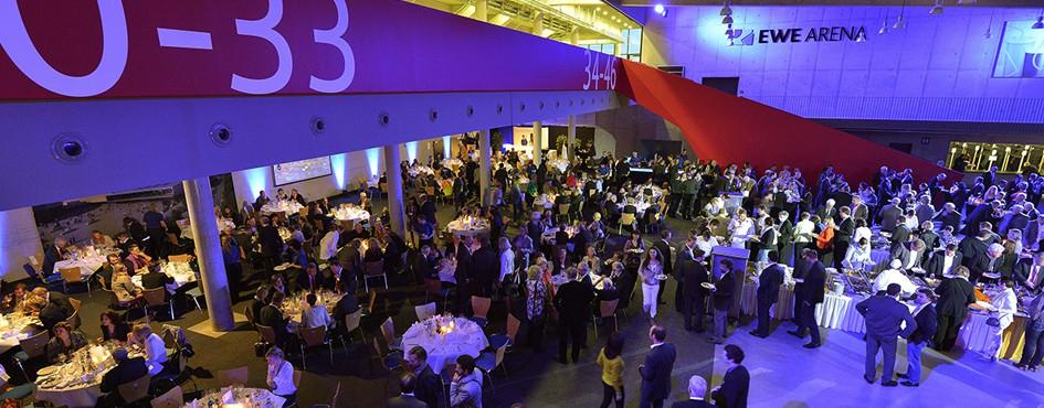 Foyer der großen EWE-Arena