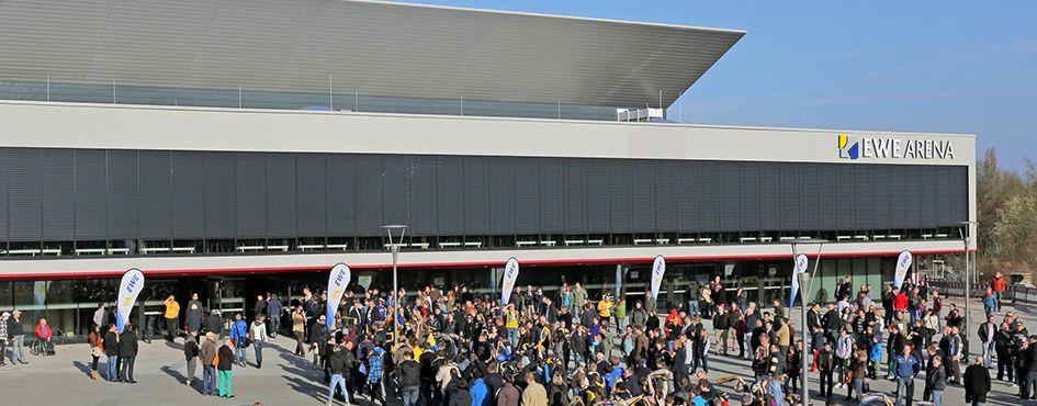 Außenansicht Große EWE-Arena